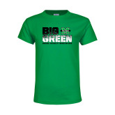Youth Kelly Green T Shirt-Big Green