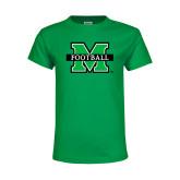 Youth Kelly Green T Shirt-Football