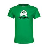 Youth Kelly Green T Shirt-Baseball Hat Design