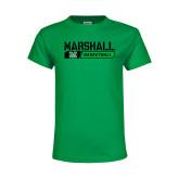 Youth Kelly Green T Shirt-Basketball Bar Design
