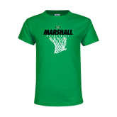 Youth Kelly Green T Shirt-Basketball Net Design