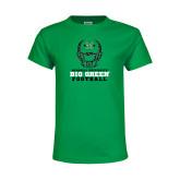 Youth Kelly Green T Shirt-Football Helmet Design