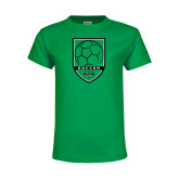 Youth Kelly Green T Shirt-Soccer Shield Design