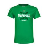Youth Kelly Green T Shirt-Softball Ball Design