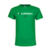 Youth Kelly Green T Shirt-Volleyball Ball Design