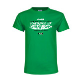 Youth Kelly Green T Shirt-2018 Mens Basketball Champions - Brush