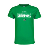 Youth Kelly Green T Shirt-2018 Mens Basketball Champions - Box