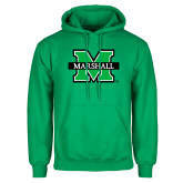 Kelly Green Fleece Hoodie-M Marshall