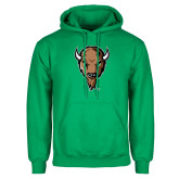 Kelly Green Fleece Hoodie-Mascot Head