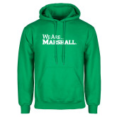 Kelly Green Fleece Hood-We Are Marshall