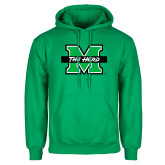 Kelly Green Fleece Hood-M The Herd