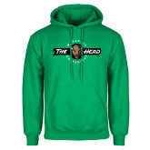 Kelly Green Fleece Hoodie-Marshall University The Herd