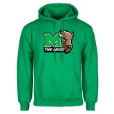 Kelly Green Fleece Hood-M The Herd w Head