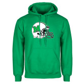 Kelly Green Fleece Hoodie-Marshall Football Helmet
