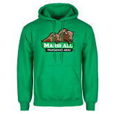 Kelly Green Fleece Hoodie-Thundering Herd in Front of Herd