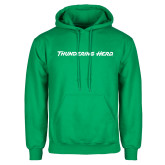 Kelly Green Fleece Hood-Thundering Herd