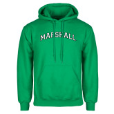 Kelly Green Fleece Hood-Arched Marshall