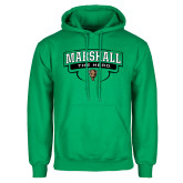 Kelly Green Fleece Hoodie-Marshall The Herd Design