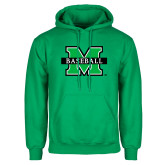 Kelly Green Fleece Hood-Baseball