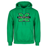 Kelly Green Fleece Hood-Basketball