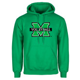 Kelly Green Fleece Hood-Volleyball