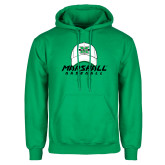 Kelly Green Fleece Hoodie-Baseball Hat Design