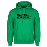 Kelly Green Fleece Hoodie-Basketball Bar Design