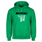 Kelly Green Fleece Hoodie-Basketball Net Design