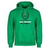 Kelly Green Fleece Hoodie-Football Helmet Design
