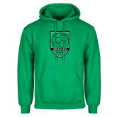 Kelly Green Fleece Hoodie-Soccer Shield Design