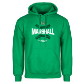 Kelly Green Fleece Hoodie-Softball Ball Design