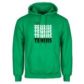 Kelly Green Fleece Hood-Tennis Stacked Design