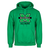 Kelly Green Fleece Hood-Alumni