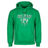 Kelly Green Fleece Hoodie-New Mexico Bowl - Face Mask