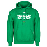 Kelly Green Fleece Hoodie-2018 Mens Basketball Champions - Brush