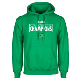 Kelly Green Fleece Hoodie-2018 Mens Basketball Champions - Box