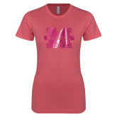 Next Level Ladies SoftStyle Junior Fitted Pink Tee-M Marshall