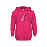 Youth Raspberry Fleece Hoodie-M Marshall