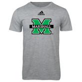 Adidas Sport Grey Logo T Shirt-M Marshall