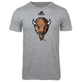 Adidas Sport Grey Logo T Shirt-Mascot Head
