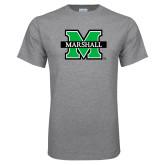 Grey T Shirt-M Marshall, Custom Tee w/ Name and #
