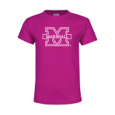 Youth Cyber Pink T Shirt-M Marshall