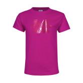 Youth Fuchsia T Shirt-M Marshall