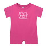 Bubble Gum Pink Infant Romper-M Marshall