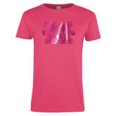 Ladies Fuchsia T Shirt-M Marshall