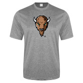 Performance Grey Heather Contender Tee-Mascot Head