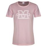 Ladies Performance Light Pink Tee-M Marshall