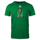 Adidas Kelly Green Logo T Shirt-Official Logo