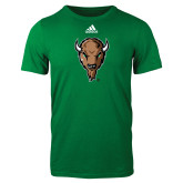 Adidas Kelly Green Logo T Shirt-Mascot Head
