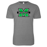 Next Level SoftStyle Heather Grey T Shirt-M Marshall